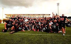 Tamworth Phoenix lift the BAFA Britbowl National League Trophy after becoming champions for 2017 - Mandatory by-line: Robbie Stephenson/JMP - 26/08/2017 - AMERICAN FOOTBALL - Sixways Stadium - Worcester, England - Tamworth Phoenix v London Blitz - BAFA Britbowl National League Finals 2017