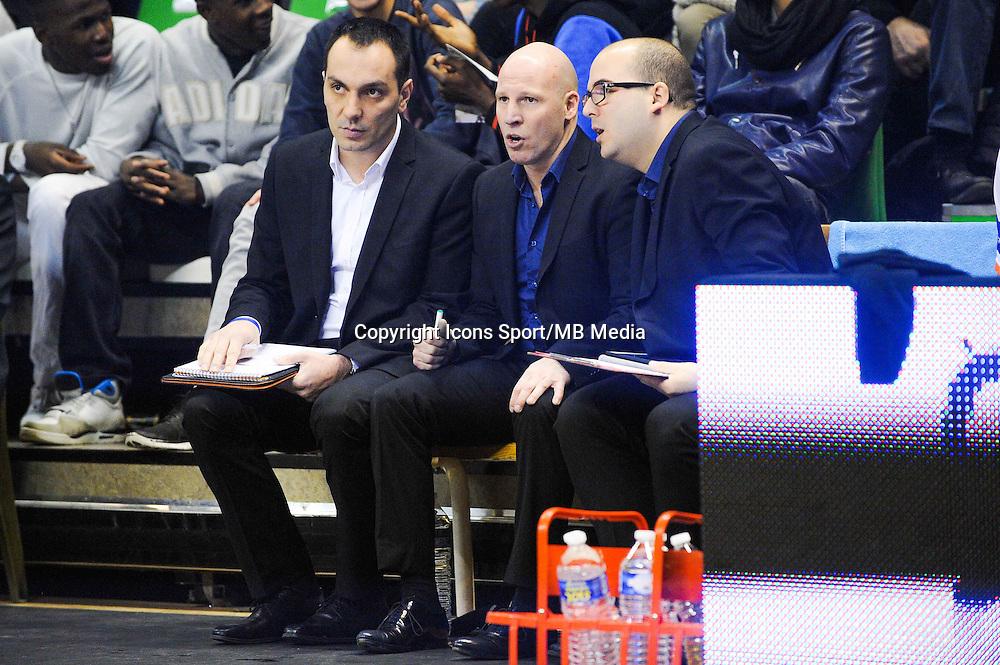 Guillaume BAC / Eric BARTECHEKY / Mathieu LEMERCIER  - 29.12.2014 - Lyon Villeurbanne / Le Havre - 16e journee Pro A<br />Photo : Jean Paul Thomas / Icon Sport