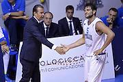 DESCRIZIONE : Qualificazioni EuroBasket 2015 Italia-Svizzera<br /> GIOCATORE : Simone Pianigiani Alessandro Gentile<br /> CATEGORIA : nazionale maschile senior A<br /> GARA : Qualificazioni EuroBasket 2015 - Italia-Svizzera<br /> DATA : 17/08/2014<br /> AUTORE : Agenzia Ciamillo-Castoria