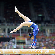 Gymnastics - Olympics: Day 2   Claudia Fragapane #340 of Great Britain performing her routine on the Balance Beam during the Artistic Gymnastics Women's Team Qualification round at the Rio Olympic Arena on August 7, 2016 in Rio de Janeiro, Brazil. (Photo by Tim Clayton/Corbis via Getty Images)