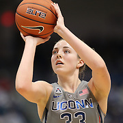 HARTFORD, CONNECTICUT- JANUARY 10: Katie Lou Samuelson #33 of the Connecticut Huskies in action during the the UConn Huskies Vs USF Bulls, NCAA Women's Basketball game on January 10th, 2017 at the XL Center, Hartford, Connecticut. (Photo by Tim Clayton/Corbis via Getty Images)