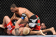"ATLANTA, GEORGIA, SEPTEMBER 6, 2008: Roan Carneiro (top) tries to keep Ryo Chonan pinned to the canvas during ""UFC 88: Breakthrough"" inside Philips Arena in Atlanta, Georgia on September 6, 2008"