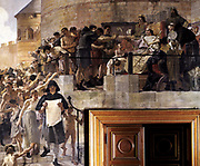 Louis VI the Fat (1081-1137) king of France from 1108, granting the citizens of Paris their first charter'. Jean Paul Laurens (1838-1921) French. Hotel Dieu, Paris.