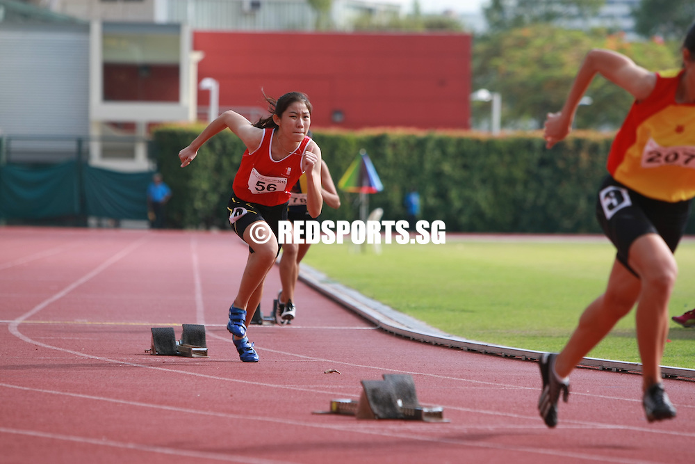 Bishan Stadium, Thursday, April 21, 2016 — Pan Xin-Min of Hwa Chong Institution clocked 1:01.52 to snatch the A Division Girls' 400 metres gold at the 57th National Schools Track and Field Championships.