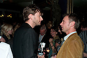 David Tennant; John Simm, The afterparty following the press night of 'Speaking In Tongues', at the Jewel Bar, Maiden Lane. Covent Garden. London. September 28, 2009,