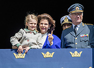 Stockholm , 30-04-2017 <br /> <br /> King Carl Gustaf celebrates his 71th birthday  with his family at the square Royal Palace of Stockholm.<br /> <br /> PUBLISHING ONLY IN FRANCE<br /> <br /> COPYRIGHT: ROYALPORTRAITS EUROPE/ BERNARD RUEBSAMEN