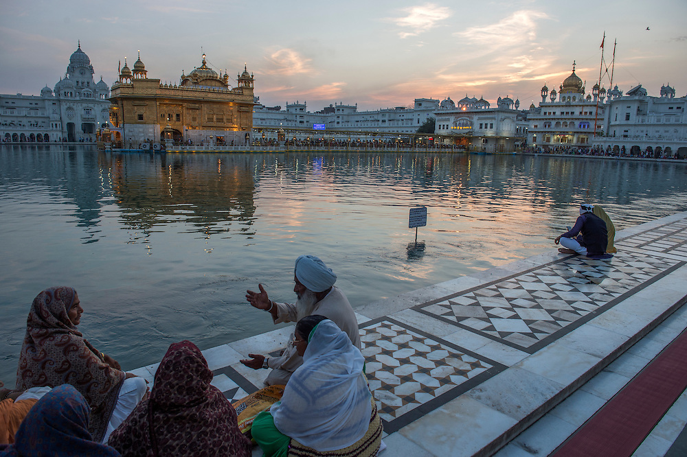 The Golden Temple at Amritsar.