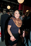 PHILANA WOO, Brunch to celebrate the launch of Art HK 11. Miss Yip Chinese Cafe. Meridian ave,  Miami Beach. 3 December 2010. -DO NOT ARCHIVE-© Copyright Photograph by Dafydd Jones. 248 Clapham Rd. London SW9 0PZ. Tel 0207 820 0771. www.dafjones.com.