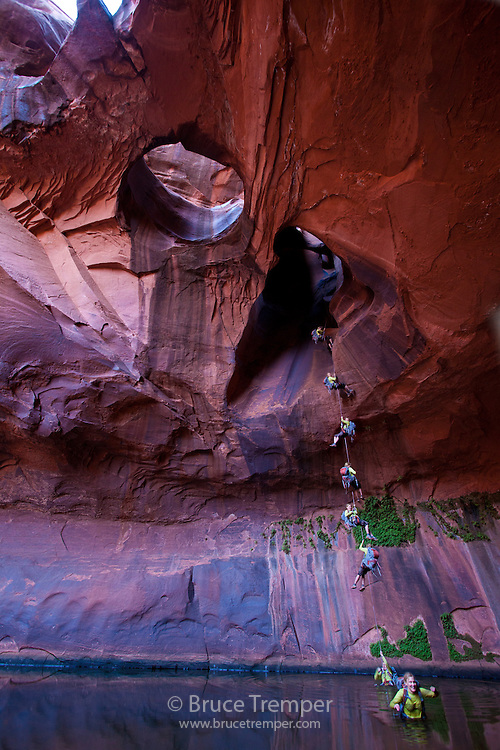 Multple images of Susi Hauser, Glen Canyon National Recreation Area, Utah
