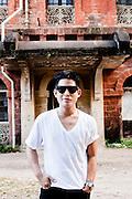 Ivan Pun at former state railways headquarters, Yangon, Myanmar.