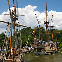 Life-size reproductions of ships at Jamestown Settlement.
