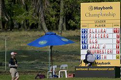 March 22, 2019 - Kuala Lumpur, Malaysia - The leaderboard on the 12th hole on Day Two of the Maybank Championship at Saujana Golf and Country Club on March 22, 2019 in Kuala Lumpur, Malaysia. (Credit Image: © Chris Jung/NurPhoto via ZUMA Press)