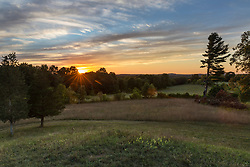 View of the sunset from Sagamore Hill in Hamilton, Massachusetts.