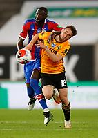 2019 / 2020 Premier League - Wolverhampton Wanderers vs Crystal Palace <br /> <br /> Diogo Jota of Wolverhampton Wanderers and Cheikhou Kouyate of Crystal Palace at Molyneux.<br /> <br /> Credit COLORSPORT/LYNNE CAMERON