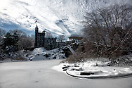 Belvedere Castle and Turtle Pond in Central Park, New York City