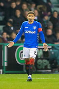 James Tavernier (#2) of Rangers FC during the Ladbrokes Scottish Premiership match between Hibernian and Rangers at Easter Road, Edinburgh, Scotland on 19 December 2018.