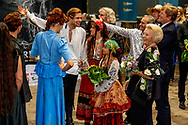 8-9-2018 LEEUWARDEN - King Willem-Alexander and Princess Beatrix during the premiere of the music and theater performance De Stormruiter.  copyrigh robin utrecht
