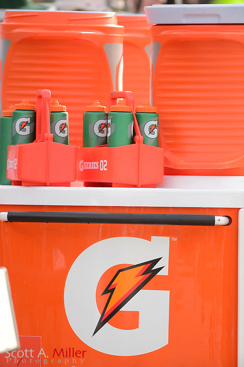 Gatorade bottles during an NFL game between the New York Jets and Jacksonville Jaguars at EverBank Field on Dec 9, 2012 in Jacksonville, Florida. The Jets won 17-10...©2012 Scott A. Miller..