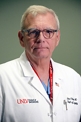 October 2, 2017 - Las Vegas, Nevada, United States of America - Dr John Fildes MD of UNLV School of Medicine , who worked in the trauma unit with  victims of the mass shooting in Las Vegas Nevada, gets ready for a tv interveiw on October 02, 2017 (Credit Image: © Marcel Thomas via ZUMA Wire)