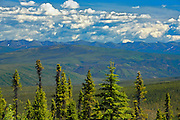 View of Ogilvie Mountains from Ogilvie Summit (KM 259) on the Dempster Highway<br /> Dempster Highway<br /> Yukon<br /> Canada