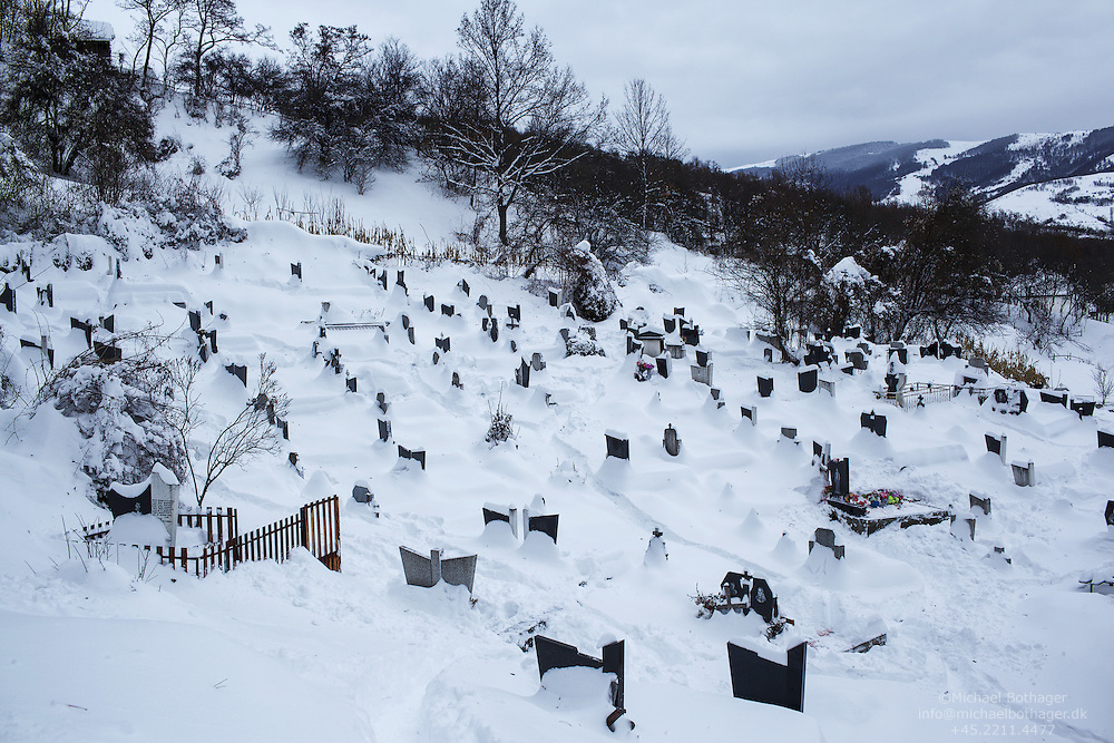 Serbian Cemetery in Strpce, the southernmost Serbian enclave.