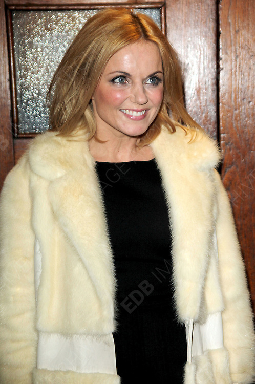 25.OCTOBER.2012. LONDON<br /> <br /> GERRI HALLIWELL ARRIVING AT THE PALACE THEATRE FOR A UNIQUE PERFORMANCE IN THE SMASH HIT MUSICAL SINGIN' IN THE RAIN FOR BBC CHILDREN IN NEED POP GOES THE MUSICAL<br /> <br /> BYLINE: EDBIMAGEARCHIVE.CO.UK<br /> <br /> *THIS IMAGE IS STRICTLY FOR UK NEWSPAPERS AND MAGAZINES ONLY*<br /> *FOR WORLD WIDE SALES AND WEB USE PLEASE CONTACT EDBIMAGEARCHIVE - 0208 954 5968*