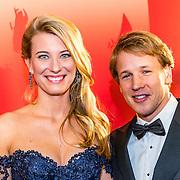 NLD/Amsterdam/20161221 - NOC*NSF Sportgala 2016, Epke Zonderland en partner Linda Steen