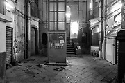 Courtyard with elevator, Naples, April 12, 2019