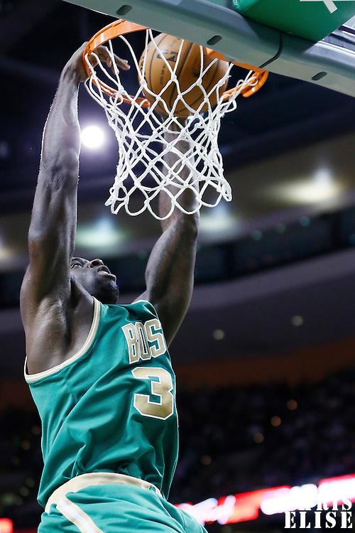 16 March 2013: Boston Celtics power forward Brandon Bass (30) dunks the ball during the Boston Celtics 105-88 victory over the Charlotte Bobcats at the TD Garden, Boston, Massachusetts, USA.