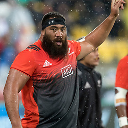 Charlie Faumuina  during game 9 of the British and Irish Lions 2017 Tour of New Zealand, the second Test match between  The All Blacks and British and Irish Lions, Westpac Stadium, Wellington, Saturday 1st July 2017<br /> (Photo by Kevin Booth Steve Haag Sports)<br /> <br /> Images for social media must have consent from Steve Haag
