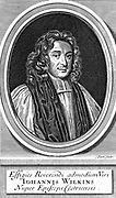 John Wilkins (1614-72) English cleric and astronomer, Bishop of Chester 1668. Author of 'The Discovery of a World in the Moone' 1638.