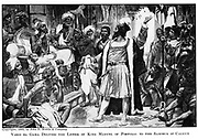 Vasco da Gama 1469?-1524, delivers the letter of King Manuel of Portugal to the Samorim of Calicut  c1905.