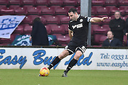 Craig Morgan of Wigan Athletic during the Sky Bet League 1 match between Scunthorpe United and Wigan Athletic at Glanford Park, Scunthorpe, England on 2 January 2016. Photo by Ian Lyall.