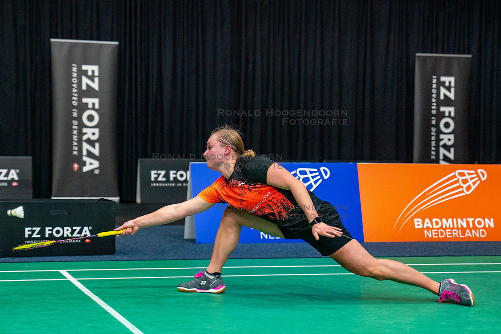 Dorien Lups during the Dutch Championships Badminton on February 1, 2020 in Topsporthal Almere, Netherlands