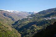 Villages of Capileria and Bubion, High Alpujarras, Sierra Nevada, Granada Province, Spain whitewashed