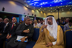 OPEC Secretary General Mohammed Barkindo during 10th OPEC and non-OPEC Joint Ministerial Monitoring Committee (JMMC) in Algiers, Algeria on September 23, 2018. Photo by Louiza Ammi/ABACAPRESS.COM