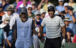 May 11, 2018 - Ponte Vedra Beach, Florida, U.S. - JASON DAY, right, reacts on 10 tee during The Players Championship 2018 at TPC Sawgrass. Day posts a five-under-par 67.  (Credit Image: © Bill Frakes via ZUMA Wire)