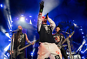 Five Finger Death Punch performs on July 27, 2018 at FivePoint Amphitheater in Irvine, California (Photo: Charlie Steffens/Gnarlyfotos) Five Finger Death Punch<br />
