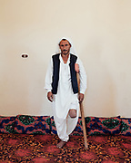 Rabeh Dawi Salem stepped on an anti-personnel mine in 1986, leaving his left leg so badly damaged that it had to be amputated above the knee. Rabeh used to own an artificial leg but now prefers to use a crutch.