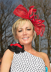 LIVERPOOL, ENGLAND - Friday, April 9, 2010: Lisa Ridyke from the Dingle, Liverpool, attends Ladies' Day during the second day of the Grand National Festival at Aintree Racecourse. (Pic by David Rawcliffe/Propaganda)
