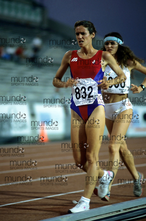 (Bufallo, New York---21 July 1993)  Pascale Grande competing in the 10km race walk at the 1993 World Student Games (FISU). Copyright Sean Burges / Mundo Sport Images, 1993