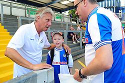 Bristol Rovers Manger, John Ward talks to fans at the fun day - Photo mandatory by-line: Dougie Allward/JMP - Tel: Mobile: 07966 386802 21/07/2013 - SPORT - FOOTBALL - Bristol -  Bristol Rovers Fun Day
