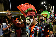20180125/ Nicolas Celaya - adhocFOTOS/ URUGUAY/ MONTEVIDEO/ 18 DE JULIO/ Desfile inaugural del carnaval 2018 por la Avenida 18 de Julio. <br /> En la foto: Presentacion de la murga La Mojigata durante el desfile inaugural del carnaval 2018 por la Avenida 18 de Julio.   Foto: Nicol&aacute;s Celaya /adhocFOTOS