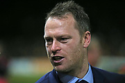 Newport Manager Michael Flynn during the The FA Cup 4th round match between Newport County and Tottenham Hotspur at Rodney Parade, Newport, Wales on 27 January 2018. Photo by Gary Learmonth.