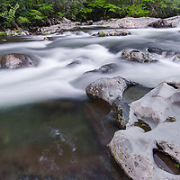 Greenbrier water cascade, Great Smoky Mountains National Park, TN