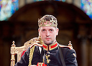 Antic Disposition present<br /> Richard III<br /> by William Shakespeare<br /> at the Temple Church, London, Great Britain <br /> Press photography <br /> 23rd August 2017 <br /> <br /> Toby Manley as Richard III<br />  <br /> <br /> <br /> &nbsp;<br /> Directors<br /> Ben Horslen<br /> John Risebero<br /> Designer<br /> John Risebero<br /> Lighting Designer<br /> Tom Boucher<br /> &nbsp;<br /> Composer<br /> James Burrows<br /> &nbsp;<br /> Fight Director<br /> Bethan Clark&nbsp;of Rc-Annie Ltd.<br /> &nbsp;<br /> Stage Manager<br /> Damien Stanton<br /> &nbsp;<br /> Technical Stage Manager<br /> Angus Chisholm<br /> <br /> Photograph by Elliott Franks <br /> Image licensed to Elliott Franks Photography Services
