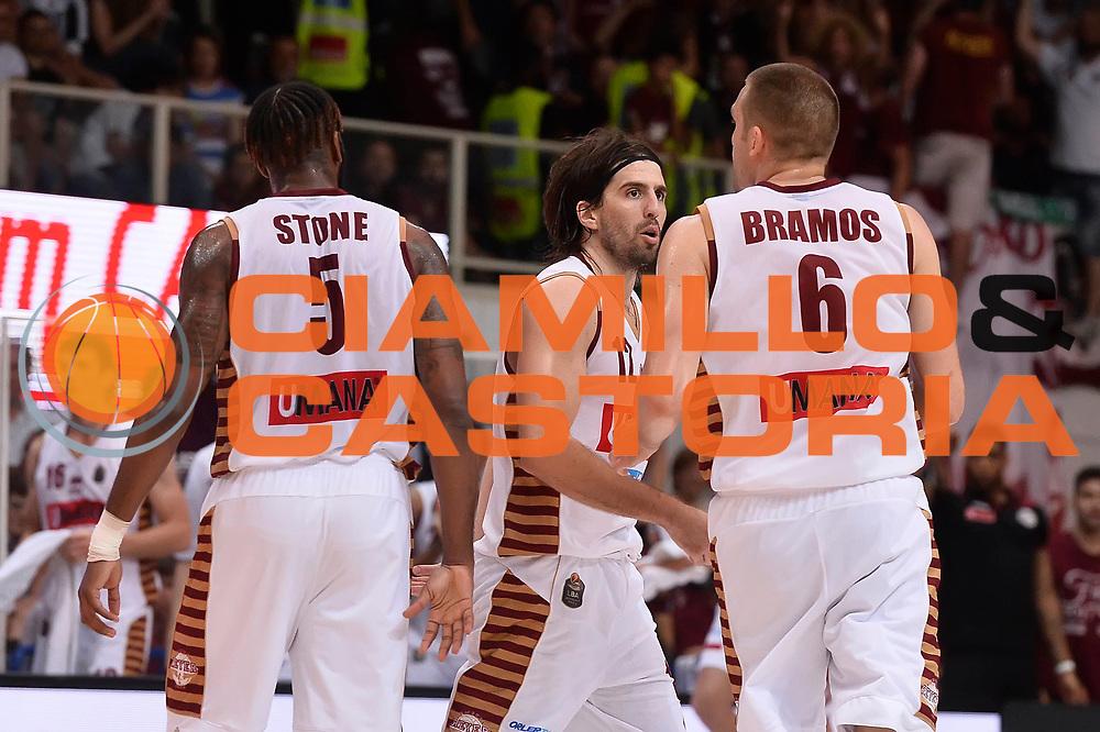 esultanza Umana Reyer Venezia<br /> Dolomiti Energia Aquila Basket Trento - Umana Reyer Venezia<br /> Playoff Gara 4<br /> Lega Basket 2016/2017<br /> Trento 16/06/2017<br /> Foto Ciamillo-Castoria