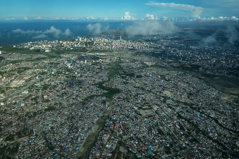 Dar es Salaam, Tanzania  - 11/18/16 - An aerial view of Dar es Salaam, Tanzania in November, 2016. Photo by Daniel Hayduk