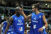 DESCRIZIONE : Vilnius Lithuania Lituania Eurobasket Men 2011 Second Round Turchia Francia Turkey France<br /> GIOCATORE : Ali Traore Joakim Noah<br /> SQUADRA : Francia France<br /> EVENTO : Eurobasket Men 2011<br /> GARA : Turchia Francia Turkey France<br /> DATA : 07/09/2011 <br /> CATEGORIA : esultanza jubilation<br /> SPORT : Pallacanestro <br /> AUTORE : Agenzia Ciamillo-Castoria/T.Wiendesohler<br /> Galleria : Eurobasket Men 2011 <br /> Fotonotizia : Vilnius Lithuania Lituania Eurobasket Men 2011 Second Round Turchia Francia Turkey France<br /> Predefinita :