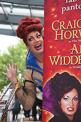 """© licensed to London News Pictures. London, UK  24/06/2011. Craig Revel Horwood as the """"Wicked Queen"""" with Ann Widdecombe who is to star as """"Widdy in Waiting"""". Press launch for the Snow White and the Seven Dwarfs pantomine starring Craig Revel Horwood and Ann Widdecombe.  Panto will be running at the Orchard Theatre in Dartford, Kent from 9 December 2011 to Christmas. Please see special instructions for usage rates. Photo credit should read Bettina Strenske/LNP"""